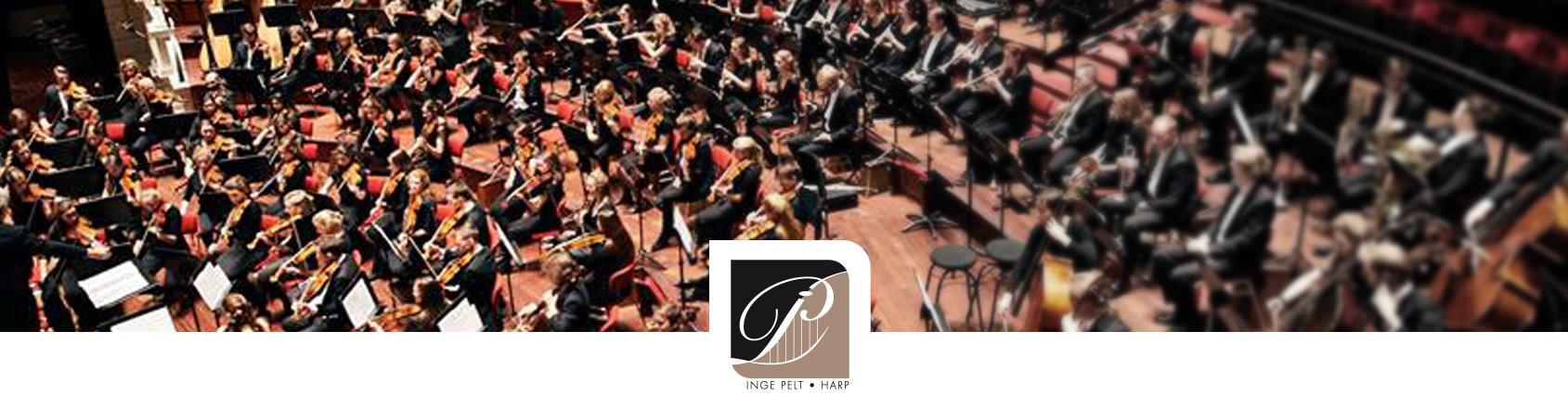orkest harpiste Inge Pelt