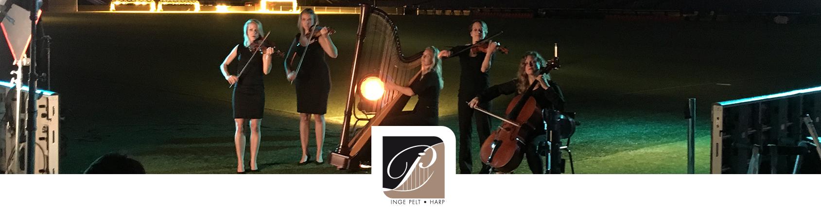commercial inspelen harpiste
